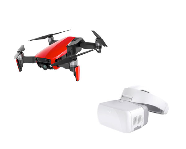 Квадрокоптер DJI Mavic Air (Flame Red) + очки DJI Goggles