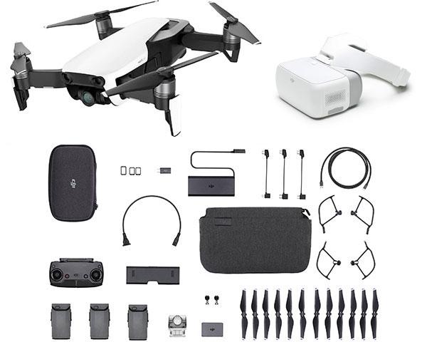Квадрокоптер DJI Mavic Air Fly More Combo (Arctic White) + очки DJI Goggles