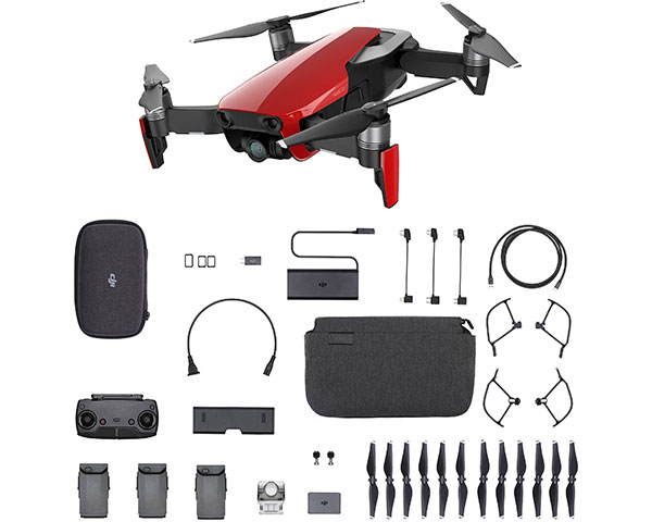 Квадрокоптер DJI Mavic Air Fly More Combo (Flame Red)