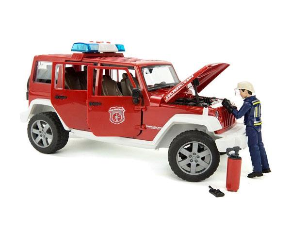 Автомодель Bruder Wrangler Unlimited Rubicon 1:16 (пожарная)