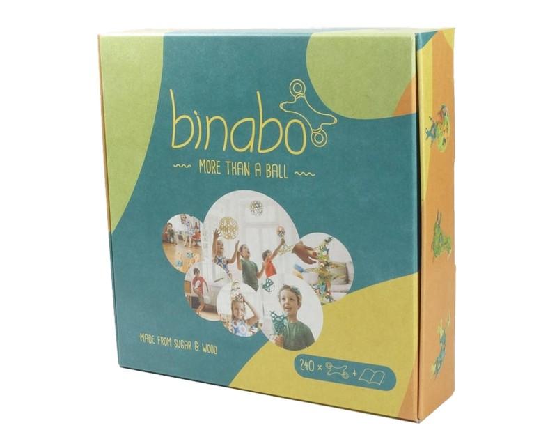 Эко-конструктор Binabo, 240 деталей, разноцветный (241860)