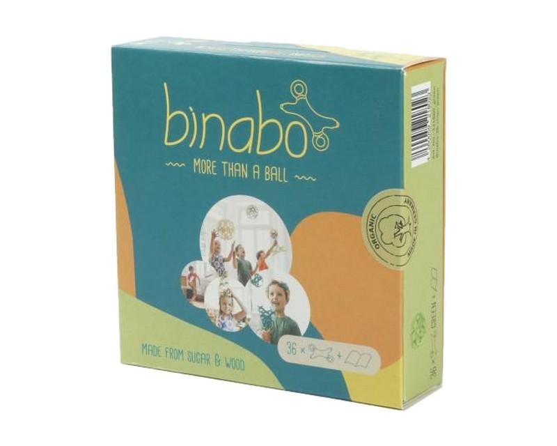 Эко-конструктор Binabo, 36 деталей, зеленый (221860_green)