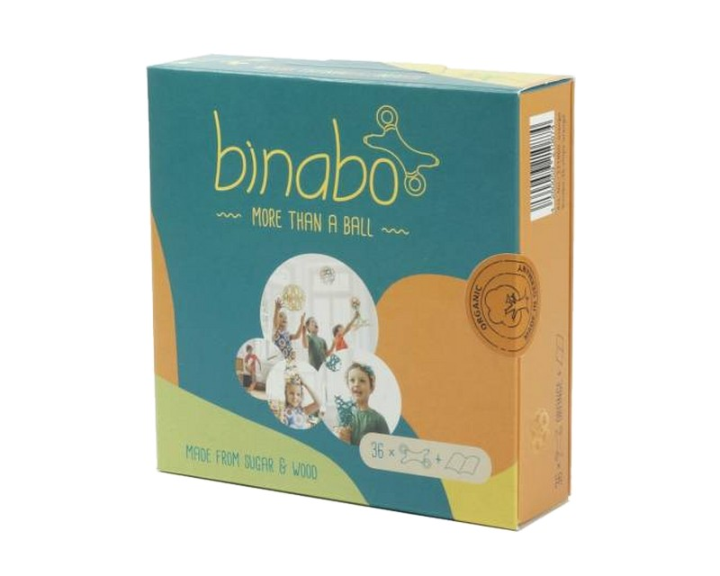 Эко-конструктор Binabo, 36 деталей, оранжевый (221860_orange)