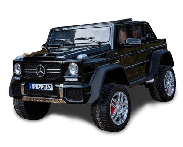 Двухместный детский электромобиль Kidsauto Mercedes-Benz Maybach G650 AMG 4WD с MP4 планшетом Черный лак