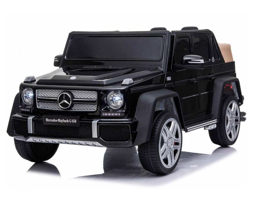 Двухместный детский электромобиль Kidsauto Mercedes-Benz Maybach G650 AMG  Черный лак