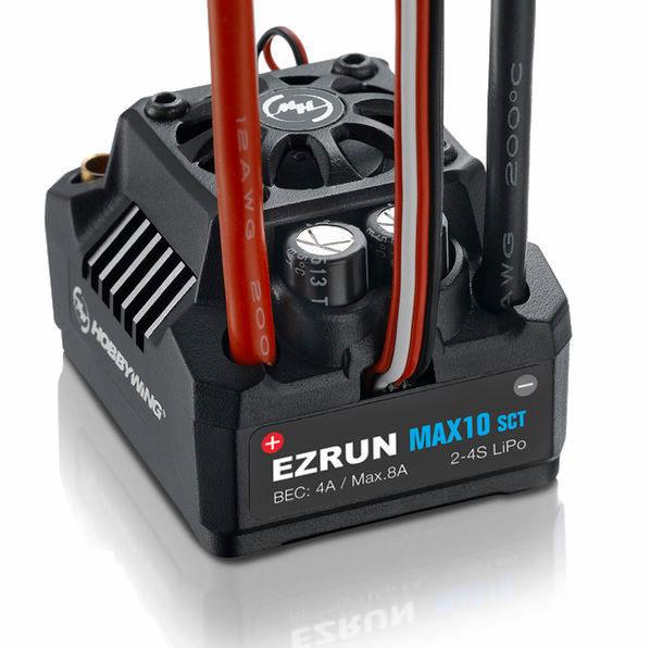 Регулятор хода HOBBYWING EZRUN MAX10 120A Brushless с влагозащитой для автомоделей