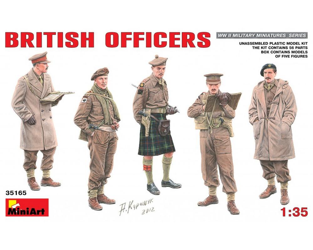 Сборные фигурки MiniArt Британские офицеры 1:35 (MA35165)