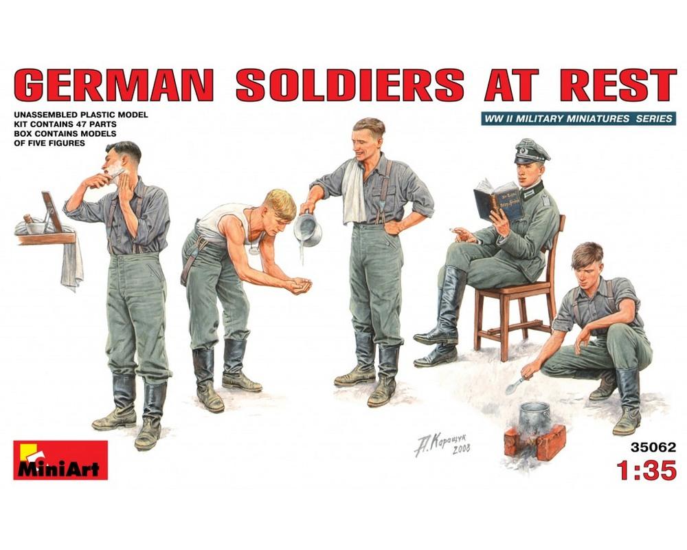 Сборные фигурки MiniArt Немецкие солдаты на отдыхе 1:35 (MA35062)