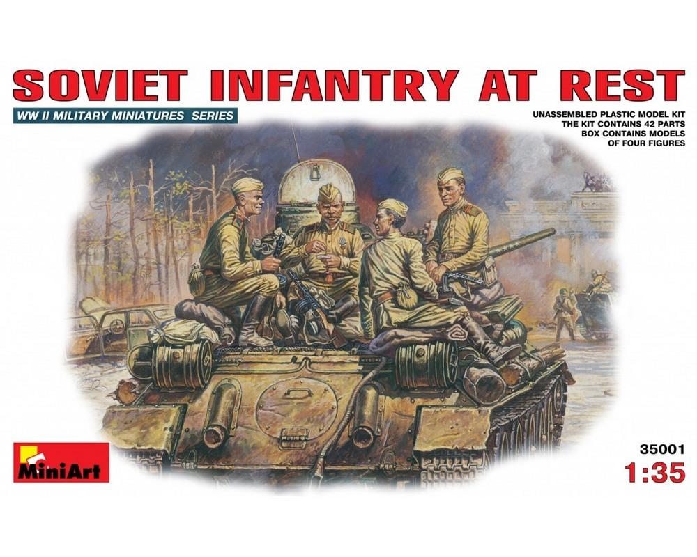 Сборные фигурки MiniArt Cоветская пехота на отдыхе (1943-45 гг.) 1:35 (MA35001)
