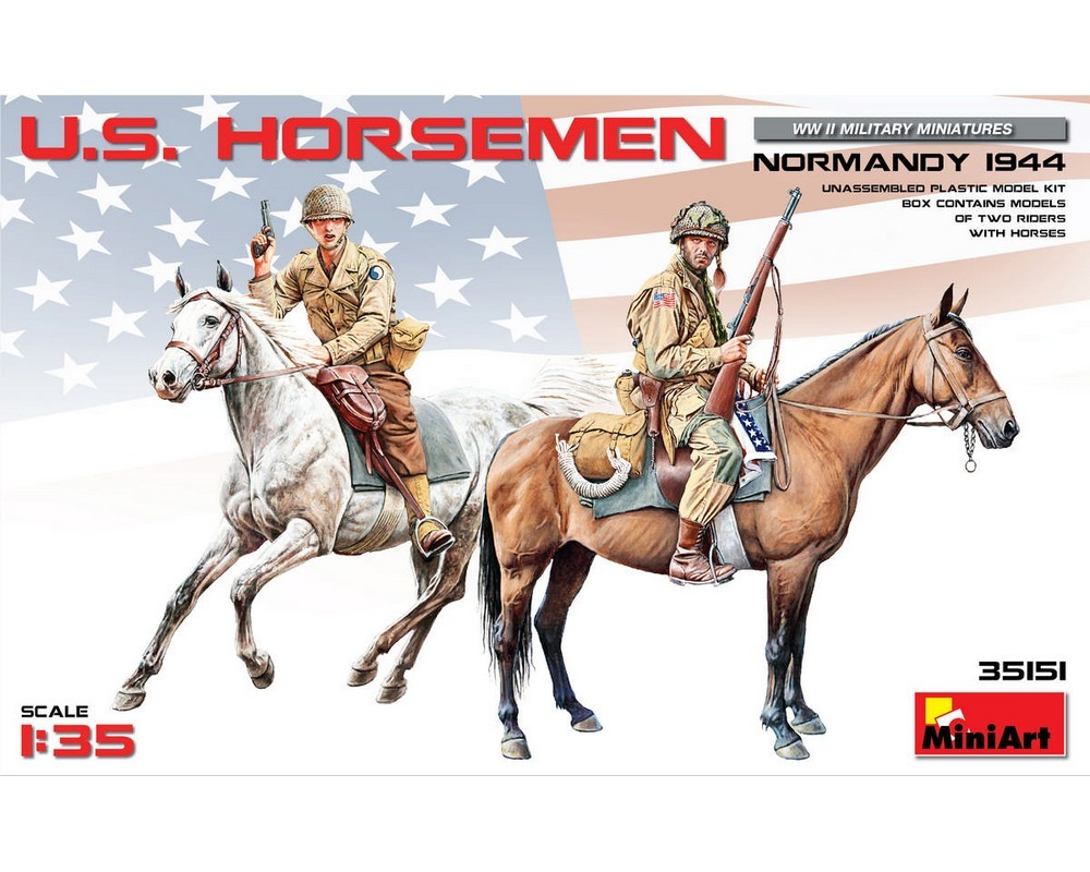 Сборные фигурки MiniArt Aмериканские всадники Нормандия 1944 г. 1:35 (MA35151)