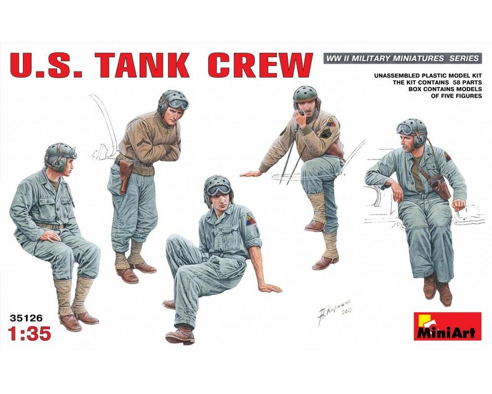 Сборные фигурки MiniArt Американский танковый экипаж 1:35 (MA35126)