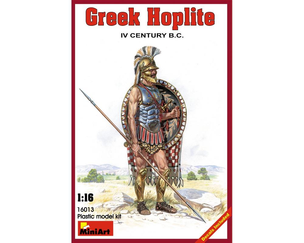 Сборная модель MiniArt фигурки греческого гоплита IV века до н. э. 1:16 (MA16013)