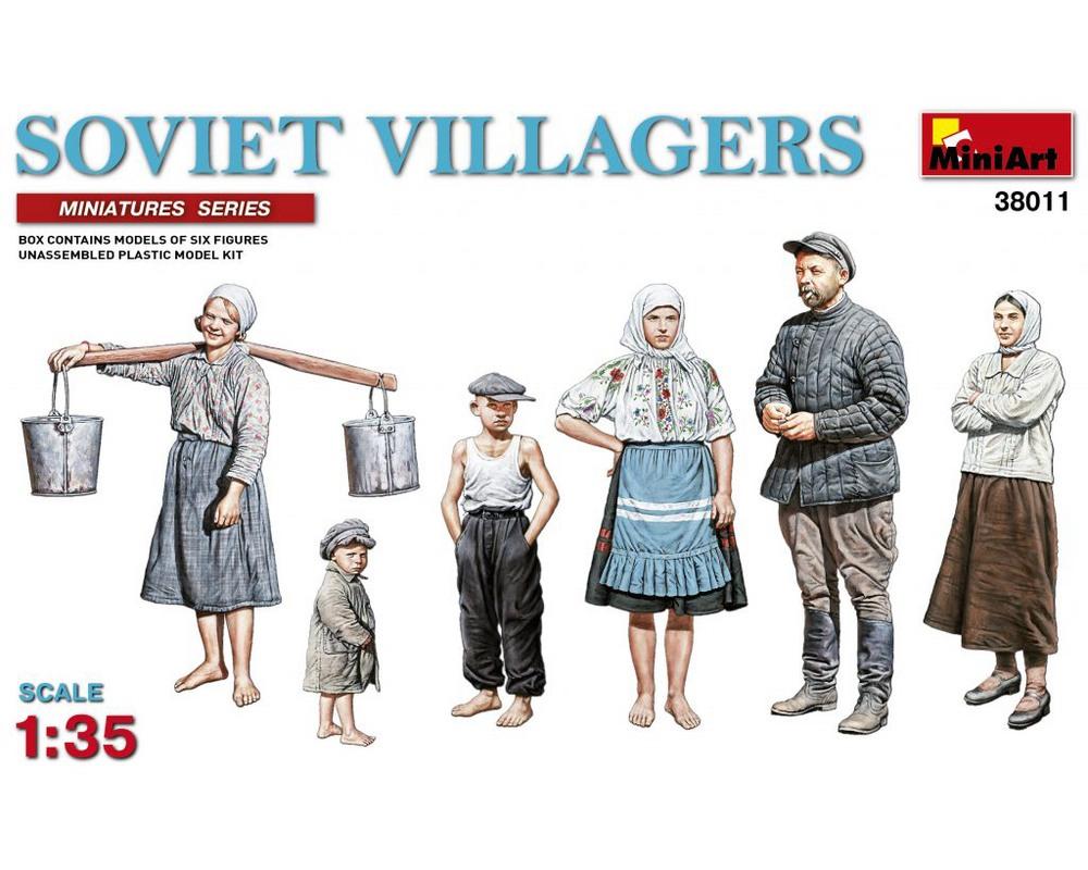 Сборные фигурки MiniArt советских сельских жителей 1:35 (MA38011)
