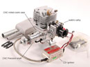 Бензиновый ДВС 26cc Gas engine w/ CD-Ignition 1.45PS (FTL26)