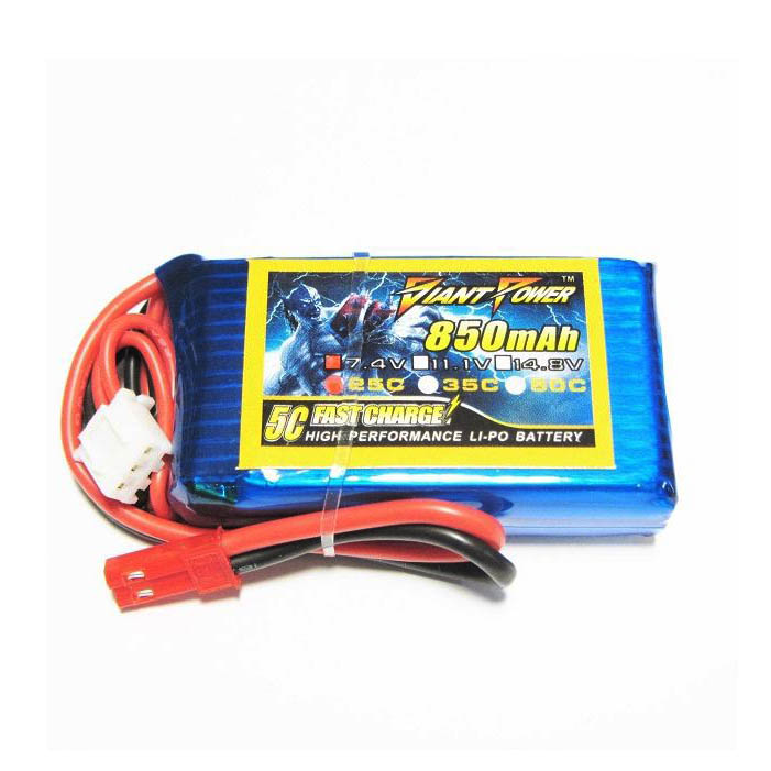 Аккумулятор Dinogy Giant Power Li-Po 850mAh 7.4V 2S 25C JST