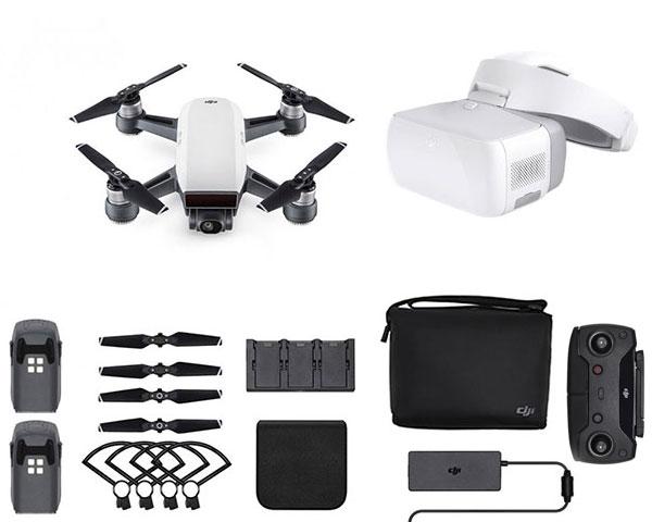 Квадрокоптер DJI Spark Combo (Alpine White) и видеоочки DJI Goggles
