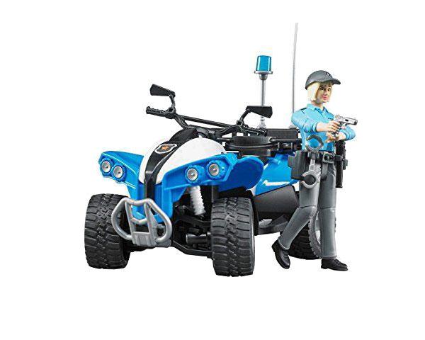 Квадроцикл Bruder и фигурка водителя 1:16 (полиция)