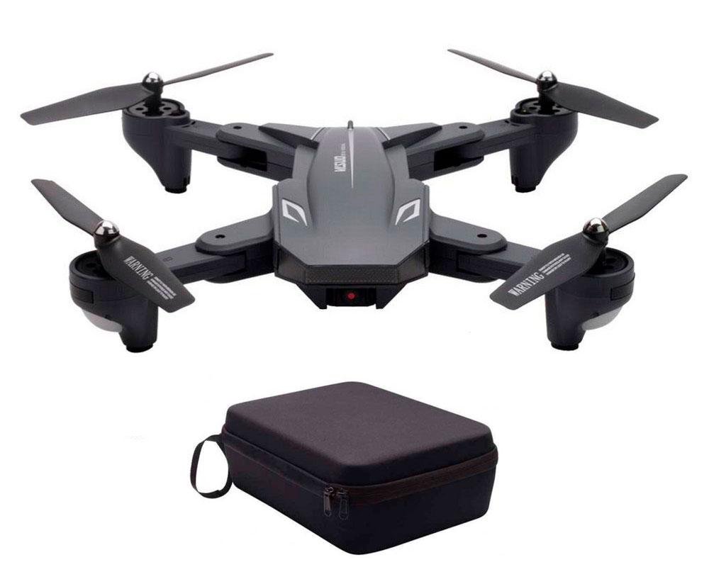 Квадрокоптер Visuo XS816 з 4K і HD FPV камерами, з кейсом (сірий)