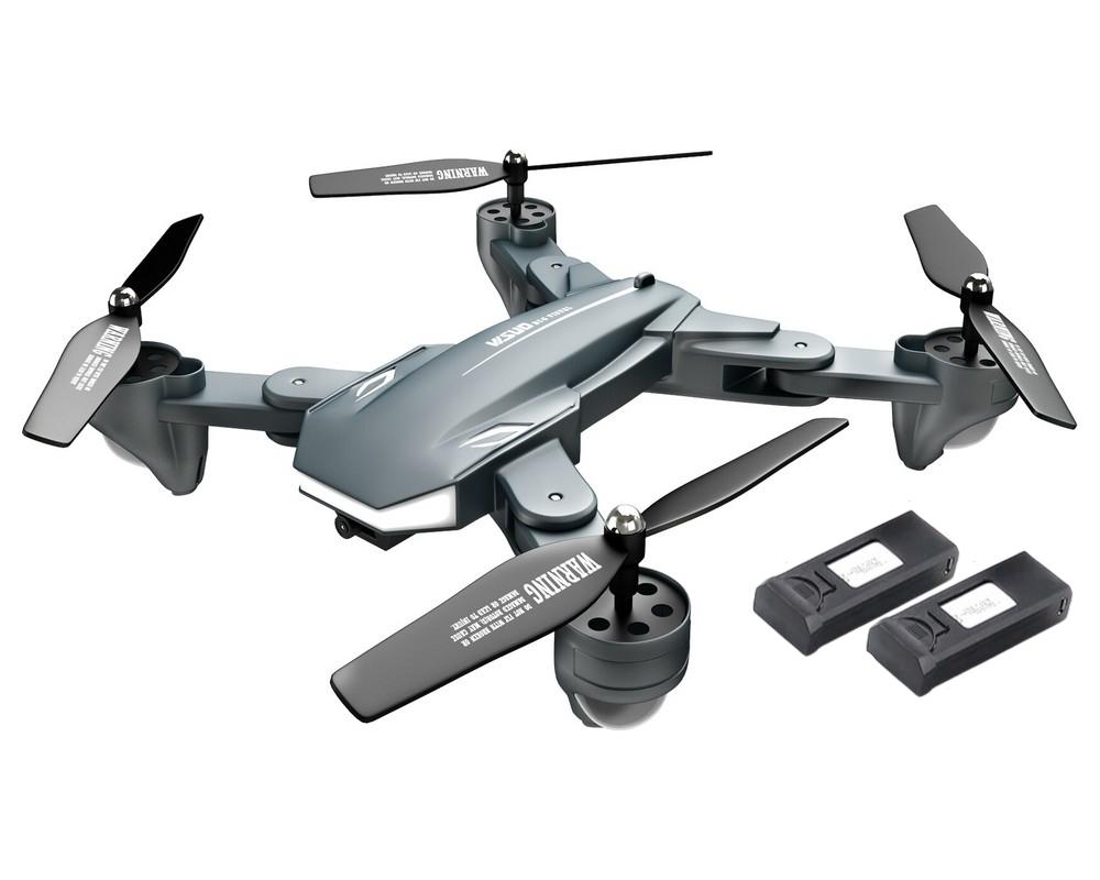 Квадрокоптер Visuo XS816 складной с двумя камерами и 3-мя аккумуляторами Серый