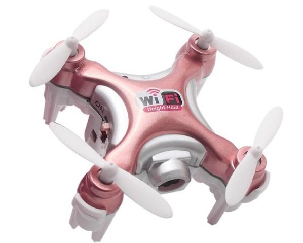 Квадрокоптер Cheerson CX-10WD-TX с Wi-Fi-камерой розовый