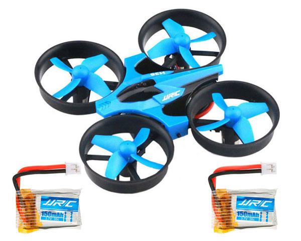 Квадрокоптер JJRC H36 mini (синий) с 3мя аккумуляторами