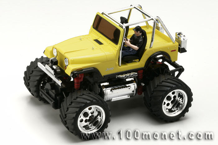 MINI-Z Monster JEEP CJ-5, 1:24, электро, желтая, L=170мм (Kyosho, 30084Y)