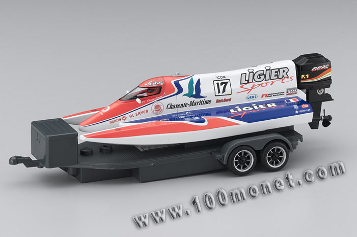 Катер Mini-Z Formula Boat Ligier Sports No17, электро, L=230mm (Kyosho, 40401LS-17)