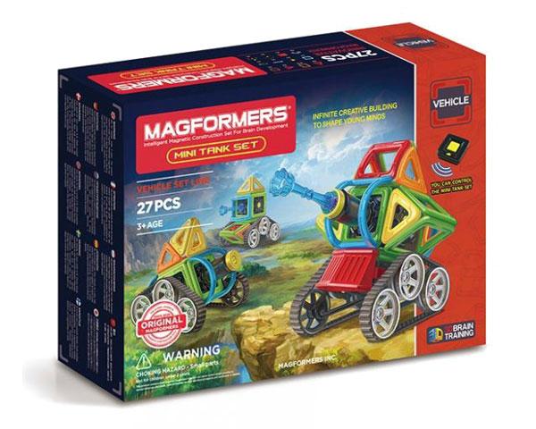 Магнитный конструктор Magformers мини танки (27 элементов)