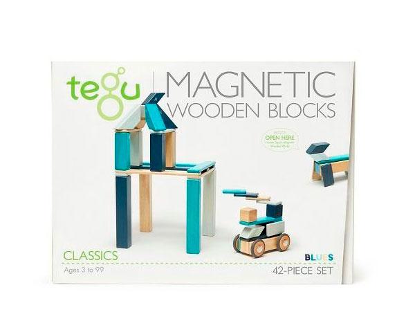 Магнитный конструктор Tegu Базовый морской, 42 элемента