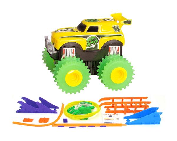 Машинка на бат. Trix Trux набор с трассой (желтая)