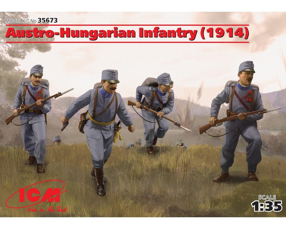 Сборные фигурки ICM Австро-венгерская пехота, 1914 г. 1:35 (ICM35673)