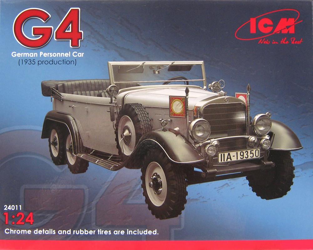 Сборная модель ICM Немецкий автомобиль G4, 1935 г. 1:24 (ICM24011)