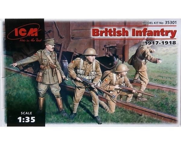 Сборные фигурки ICM Британская пехота, 1917-1918 гг. 1:35 (ICM35301)
