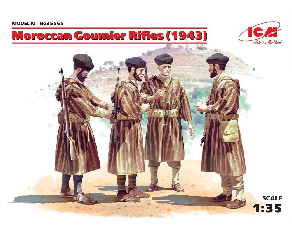 Сборные фигурки ICM Марокканские гумьеры-стрелки, 1943 г. 1:35 (ICM35565)