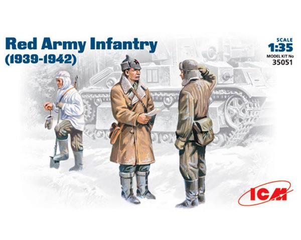 Сборные фигурки ICM Советская пехота, 1939-1942 гг. 1:35 (ICM35051)