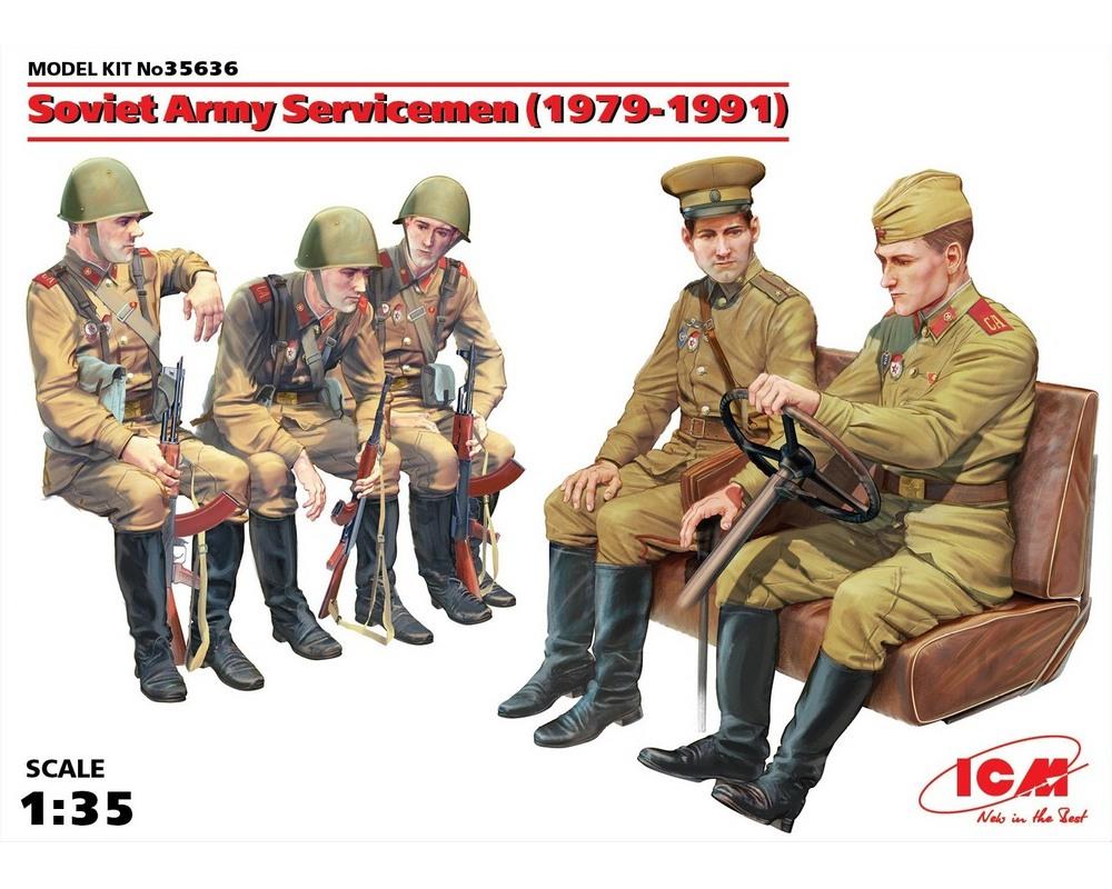 Сборные фигурки ICM Советские военнослужащие, 1979-1991 гг. 1:35 (ICM35636)