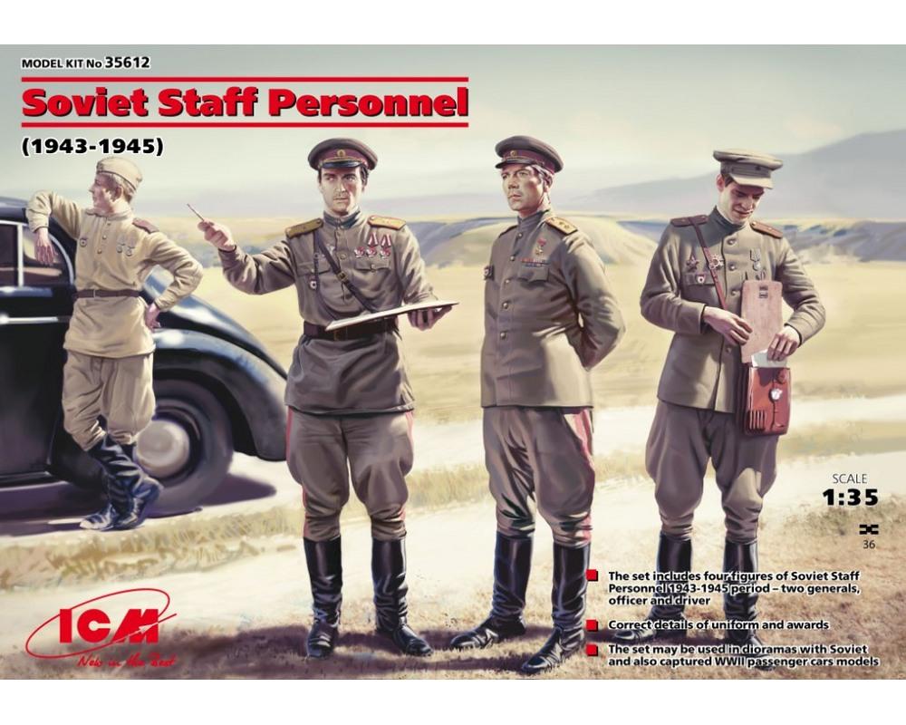 Сборные фигурки ICM Советские штабисты, 1939-1945 гг. 1:35 (ICM35612)