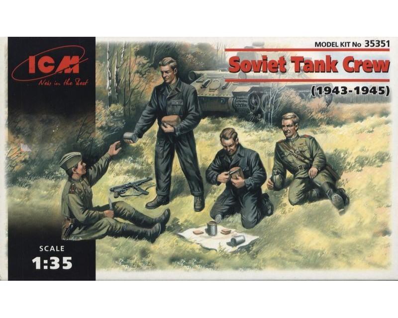 Сборные фигурки ICM Экипаж советского танка, 1943-1945 гг. 1:35 (ICM35351)