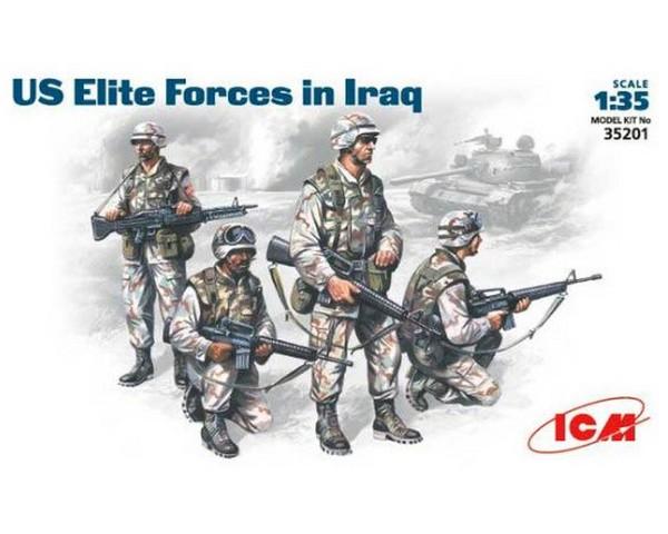 Сборные фигурки ICM Элитные войска США в Ираке, 2001 г. 1:35 (ICM35201)