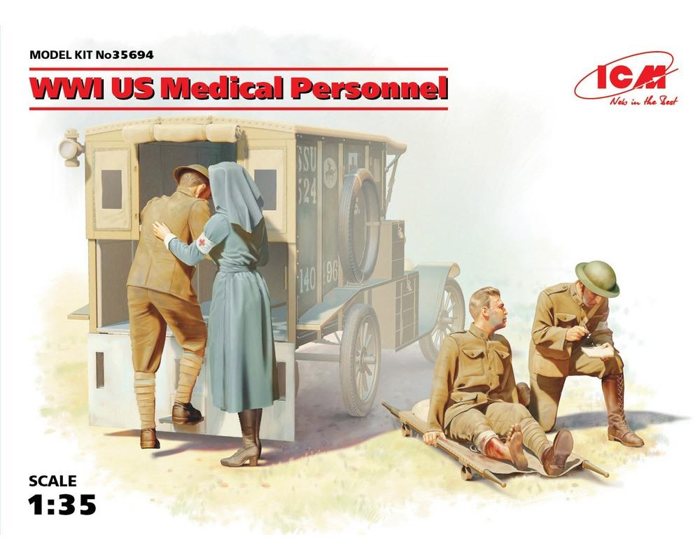 Сборные фигурки ICM Американский медперсонал, IМВ 1:35 (ICM35694)