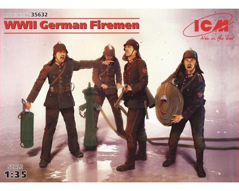 Сборные фигурки ICM Немецкие пожарные, IIМВ 1:35 (ICM35632)