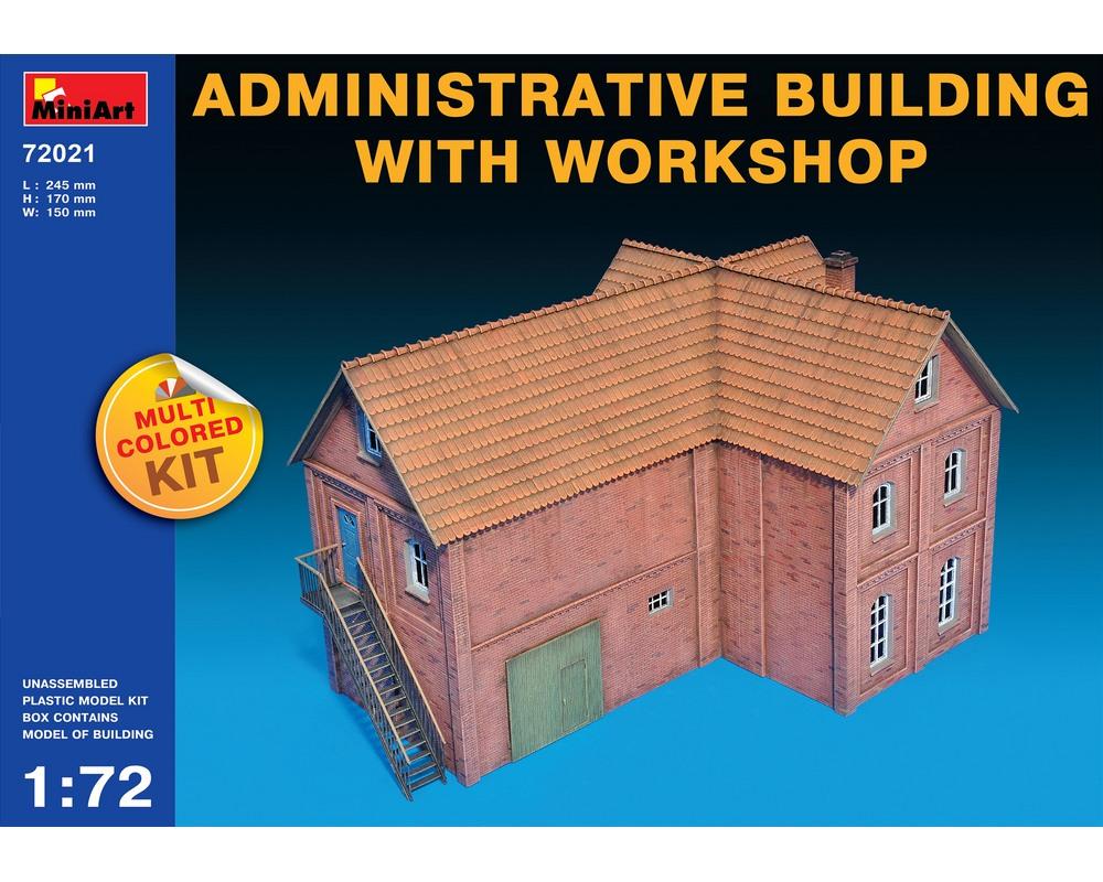 Сборная модель MiniArt административного здания с мастерской 1:72 (MA72021)
