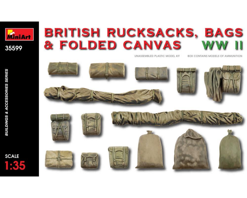 Сборная модель MiniArt Британские рюкзаки, сумки и сложенный брезент, Вторая мировая война 1:35 (MA35599)