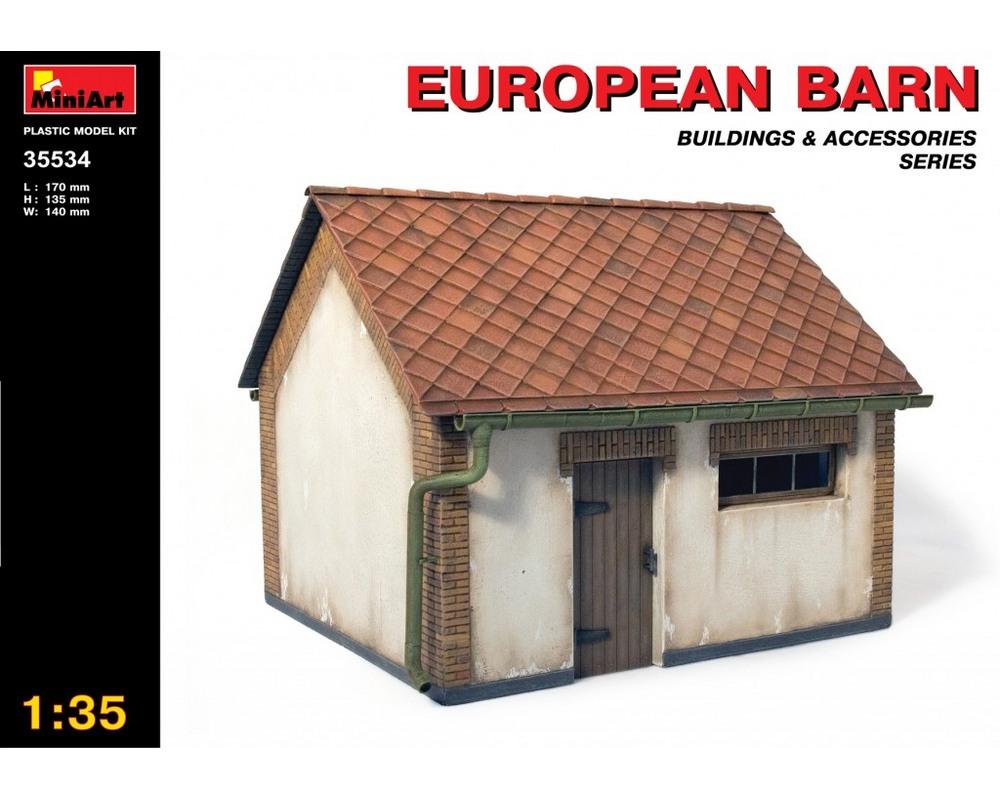 Сборная модель MiniArt 1:35 Европейский сарай (MA35534)