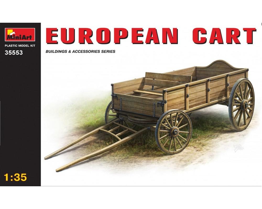 Сборная модель MiniArt Европейская телега 1:35 (MA35553)