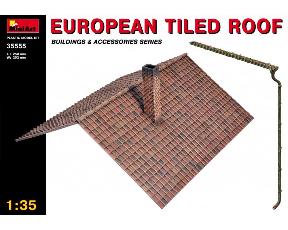 Сборная модель MiniArt Европейская черепичная крыша 1:35 (MA35555)