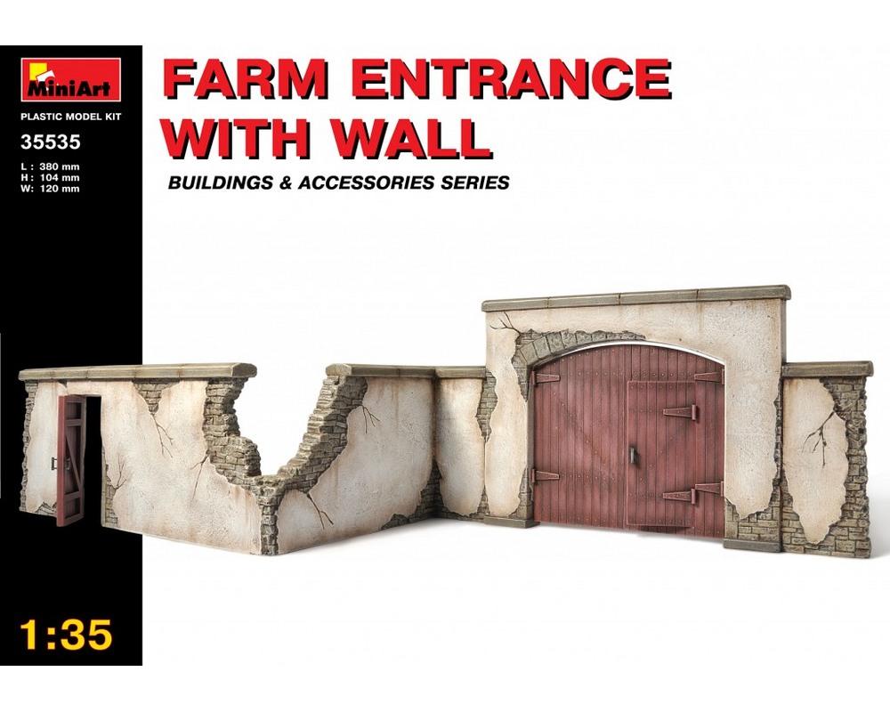 Сборная модель MiniArt Забор фермы с выездом 1:35 (MA35535)