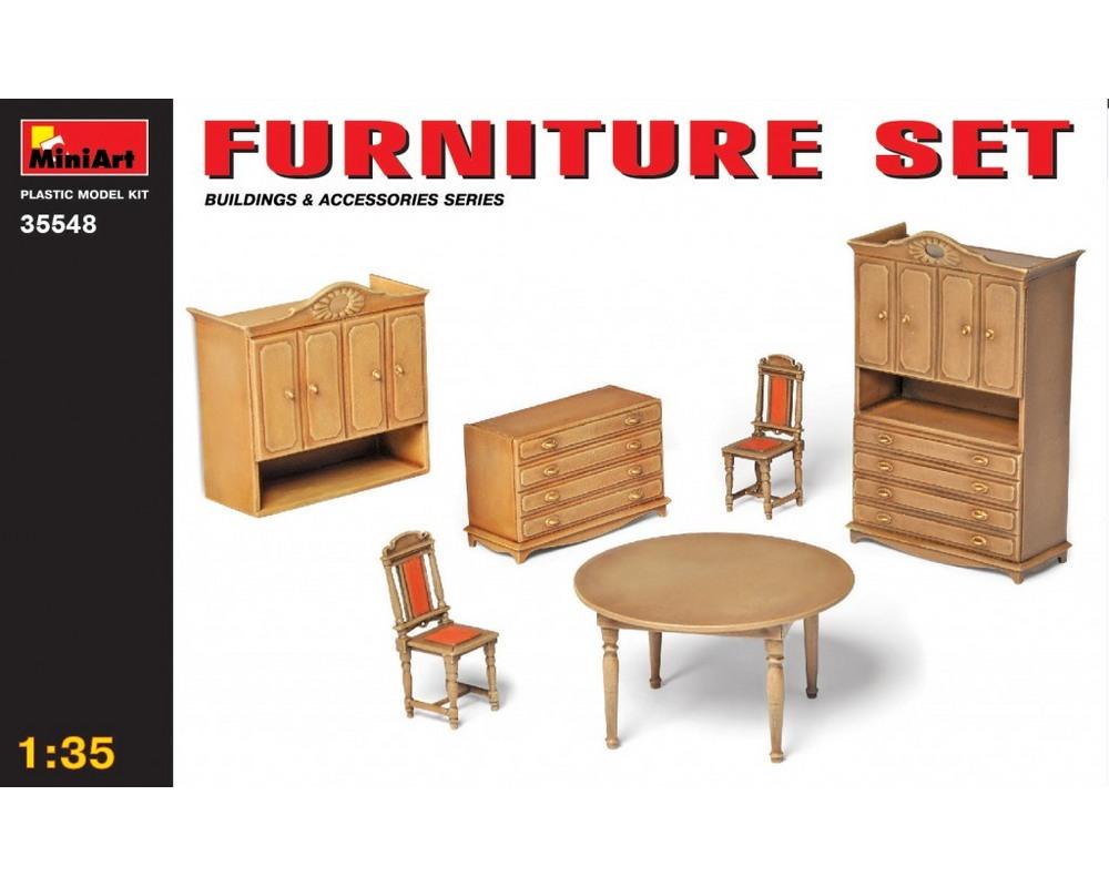 Сборная модель MiniArt Набор мебели 1:35 (MA35548)