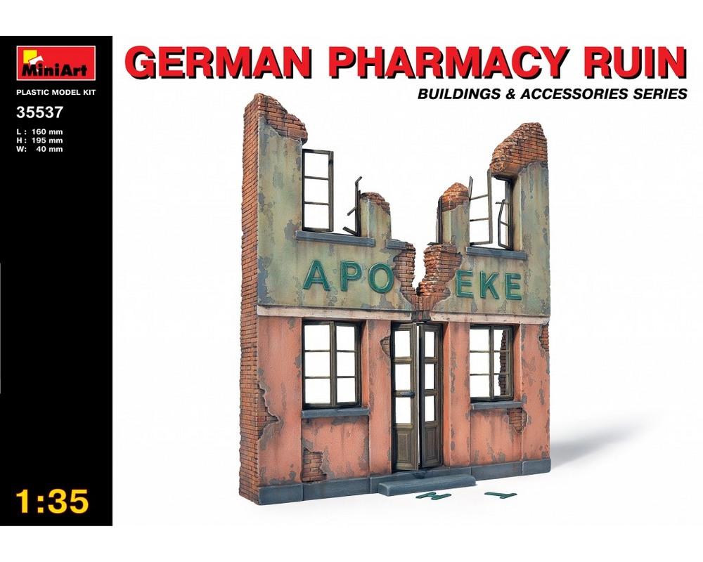 Сборная модель MiniArt Руины немецкой аптеки 1:35 (MA35537)