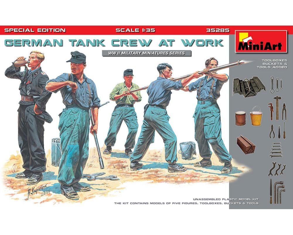 Сборные фигурки MiniArt Немецкий танковый экипаж за работой, специальное издание 1:35 (MA35285)